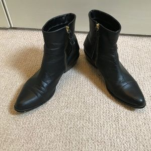 Cynthia Vincent Black Ankle Boots